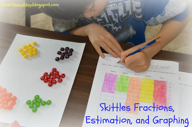 Love2learn2day Skittles Fractions Estimation And Graphing