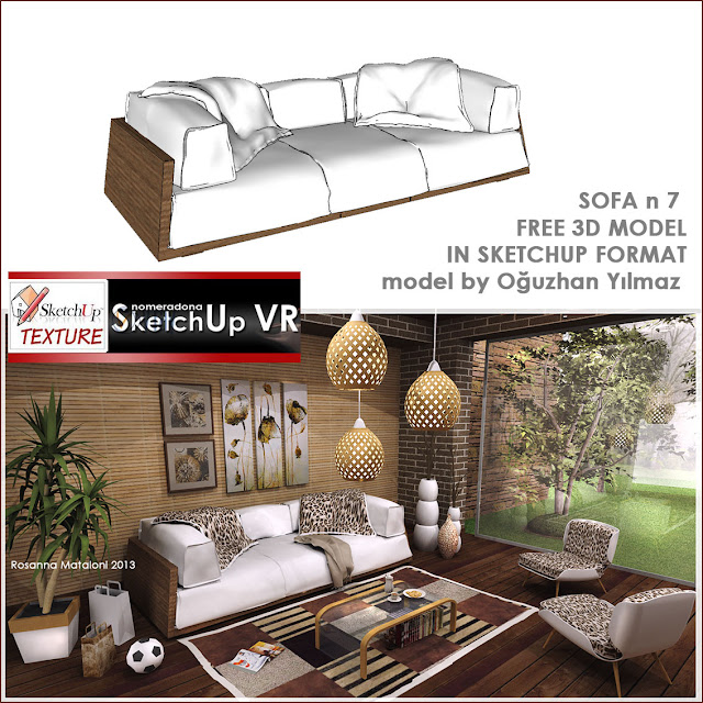 sketchup model sofa design #7 cover