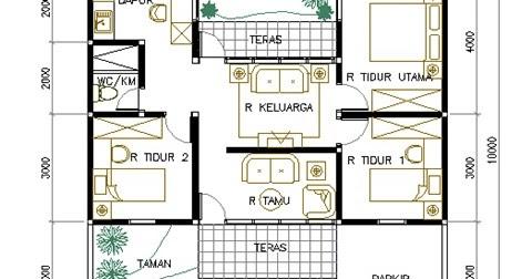 terpopuler 20+ denah rumah luas tanah 100 m2