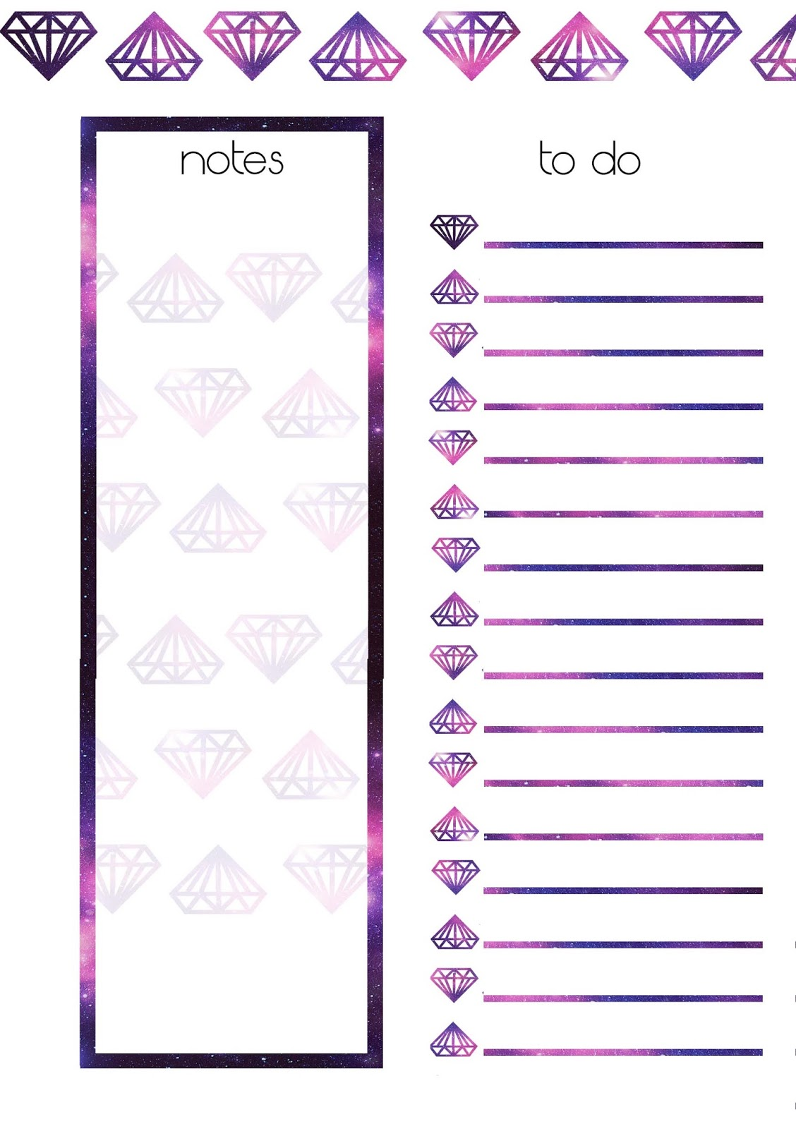 PB and J Studio: Free Printable Planner Inserts | GALAXY ...