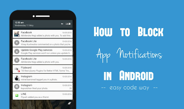 Block App Notifications in Android