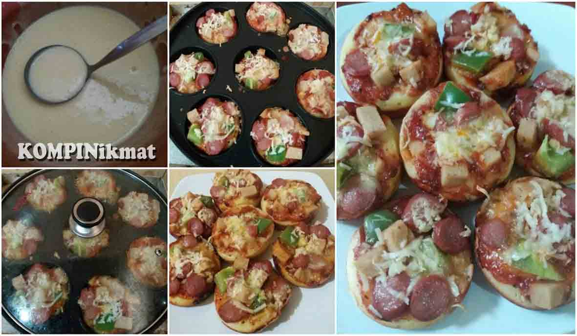 Resep Membuat Pizza Pukis super Praktis. Makan 1 Mana Cukup. Endassss Banget