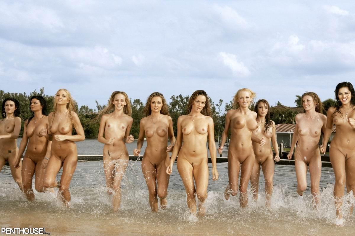 Naked Standing Girl