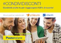 Logo Ottieni gratis il 20% di sconto pagando con con le carte BancoPosta