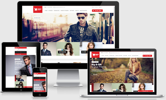 Mega Shop Responsive Blogger Templates