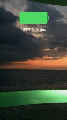 Ikon hijau Baterai iPhone di Lockscreen