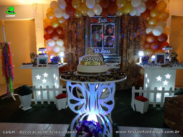 Ornamentação da Oncinha para festa de aniversário