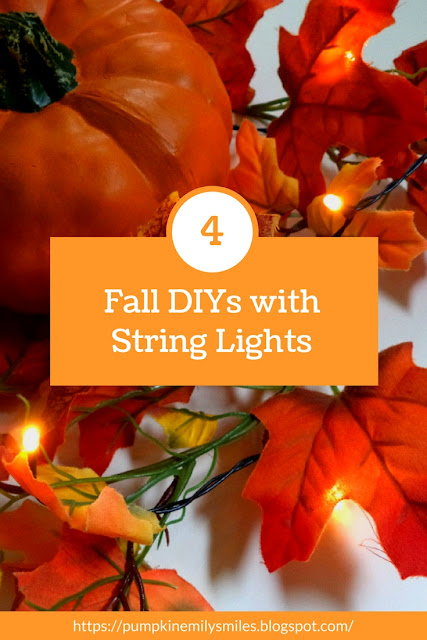 Fall DIYs with String Lights DIY Fall Decor Ideas with String Lights