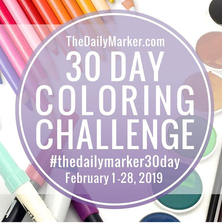 ♥ The Daily Marker 30 Day Coloring Challenge ♥