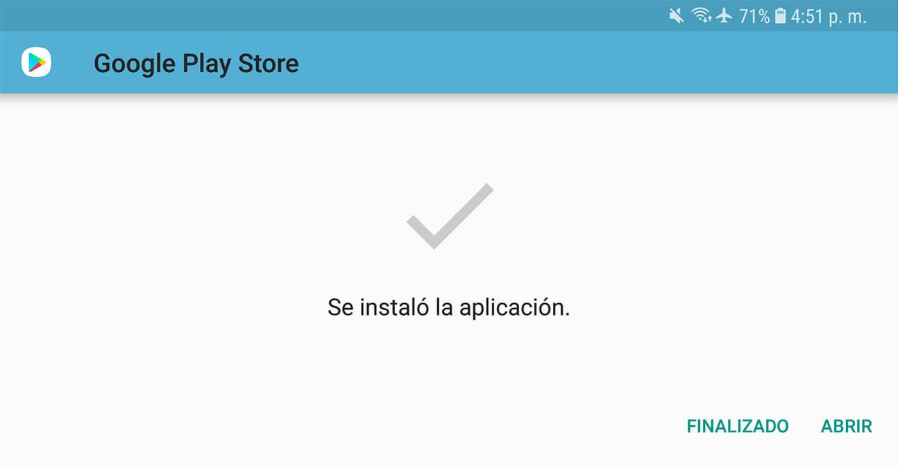 cómo instalar google play store en Android