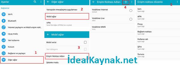 Türk Telekom APN internet ve MMS Ayarları