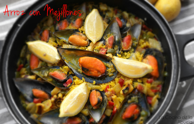 arroz mejillones paella sencillo ingredientes