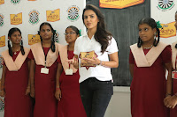 Actress Priya Anand in T Shirt with Students of Shiksha Movement Events 55.jpg