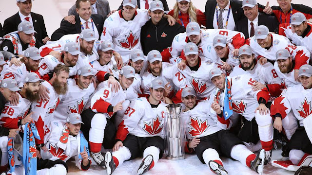 Victorious Team Canada in the 2016 World Cup of Hockey