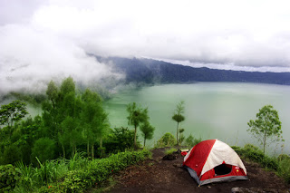 All About Bali Camping with View of Mountains and Lake Batur