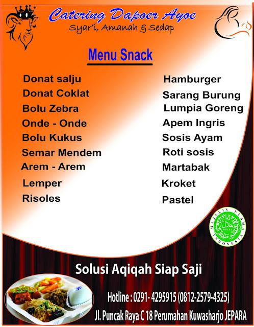 Snack Catering Aqiqah Jepara