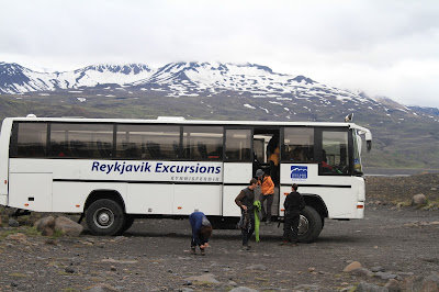 Reykjavik Excursions Bus, stop near the Gígjökull glacier.