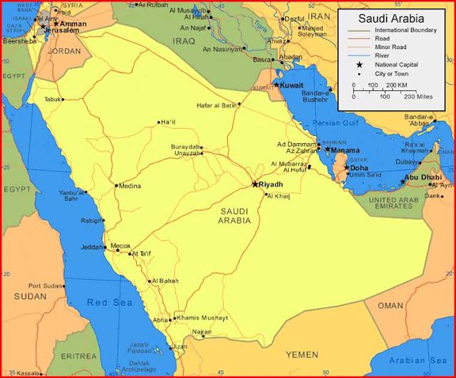 Gambar Peta Arab Saudi