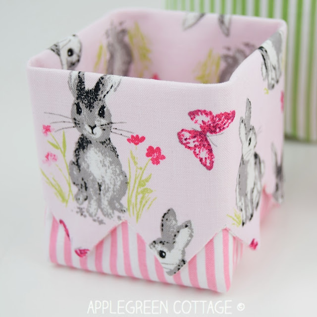 Diy Easter basket with pretty bunnies