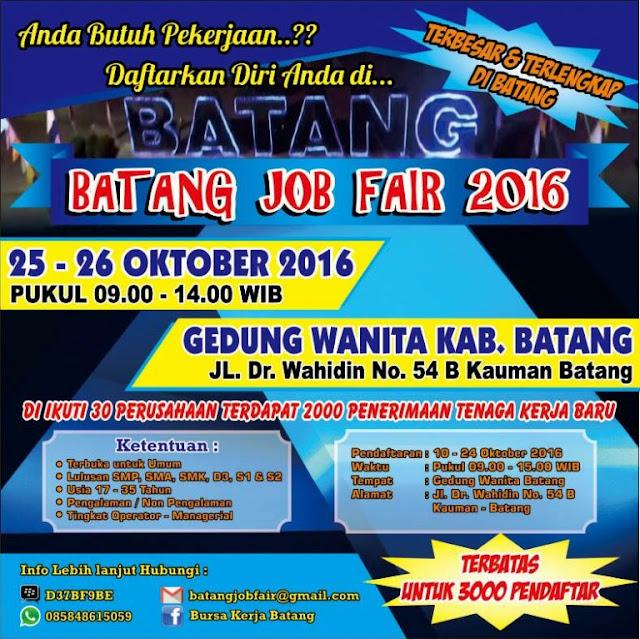 Job Fair Bulan Oktober 2016 Di Batang