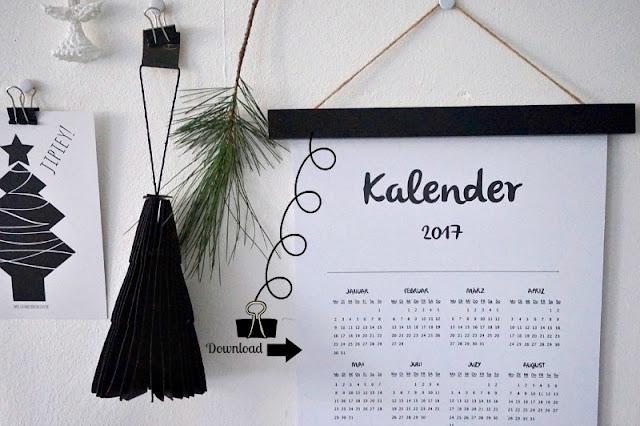 Kalender 2017 freebie