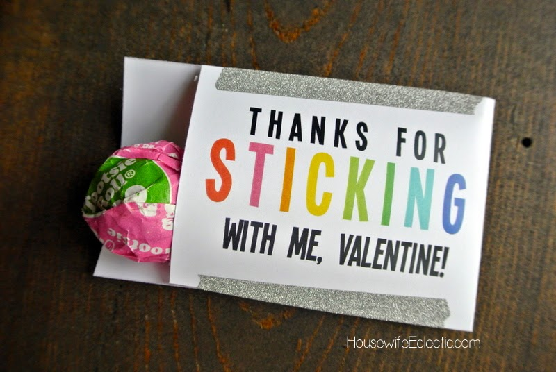 Free Printable Valentine Tag with 10+ Easy Gift Ideas - sucker