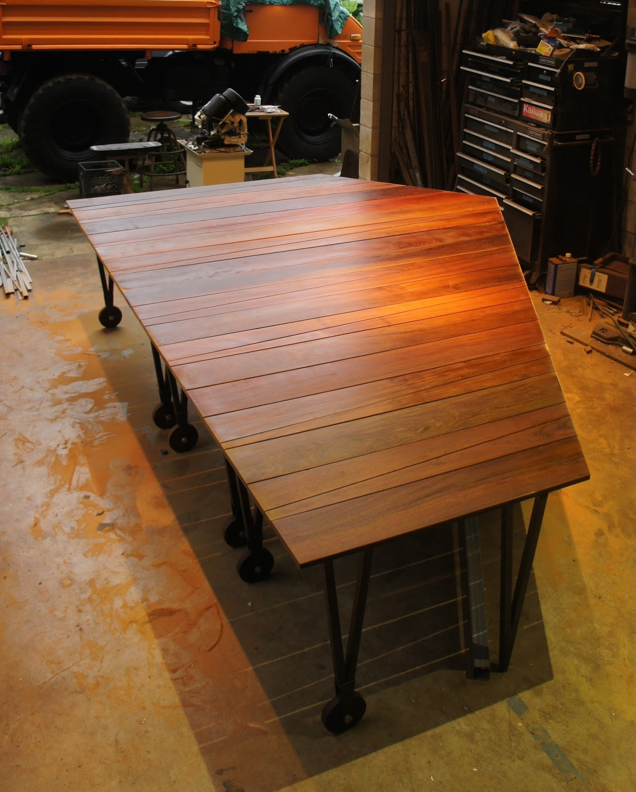 Ipe Wood And Stainless Steel 3 Piece Tables