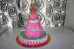 Original Barbie Fondant Doll Cake