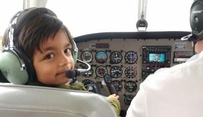 Marwan Vorajee, Bocah 7 Tahun Jadi Pilot Paling Muda