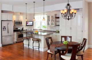 Lighting for kitchen and dining room