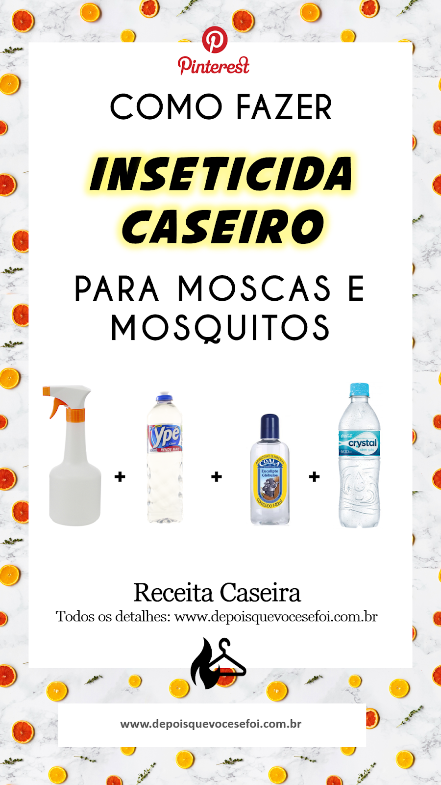 Inseticida Caseiro para moscas e mosquitos