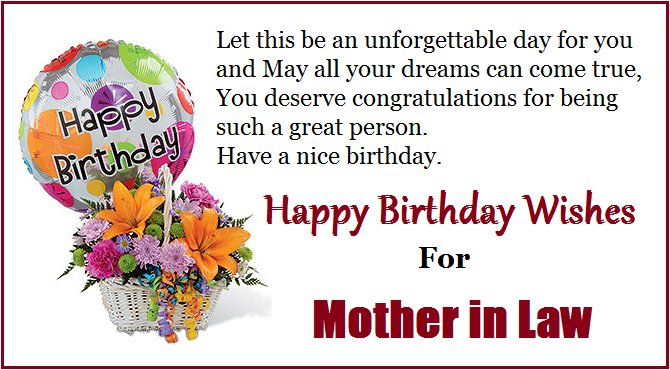 21 happy birthday message for mother in law from daughter images happy birthday to my mother in law message m4hsunfo