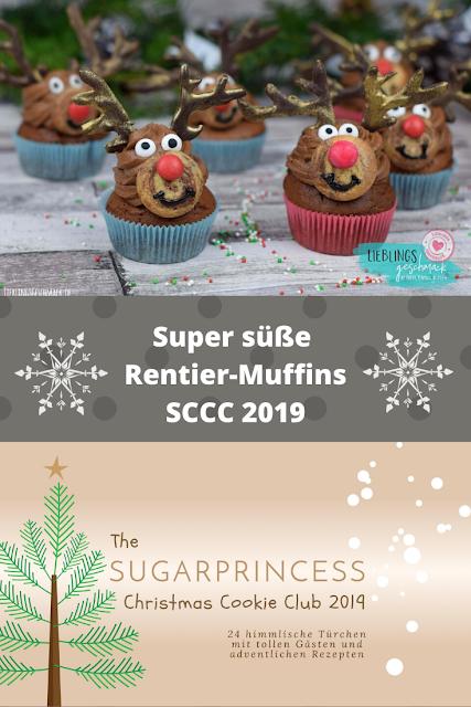 Rentier Muffins - Rezept und Video von Lieblingsgeschmack | SCCC 2019: Türchen Nr. 17 | Gewinnspiel