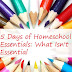 5 Days of Homeschooling Essentials: What Isn't Essential