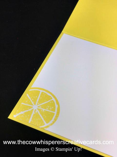 Card, Lemon Zest, Jar of Love, In Color Embossing Powders