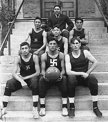 Native American, Chilocco Indian Agricultural School basketball team in 1909