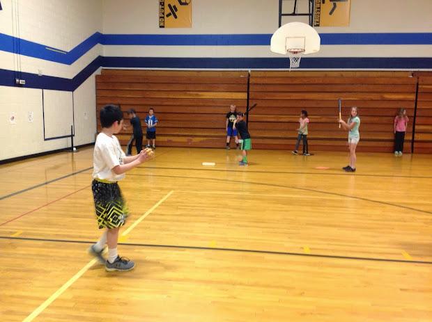 Carly' Pe Games Batting Practice -5th Grade