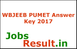 WBJEEB PUMET Answer Key 2017