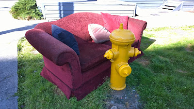 Couch and Fire Hydrant