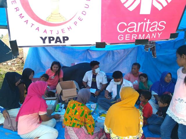 YPAP dan Caritas Germany Buka Posko Kesehatan Pelayanan Pengobatan Gratis bagi Penyintas Gempa Pijay