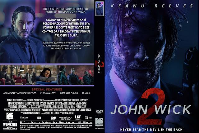 Capa DVD John Wick 2