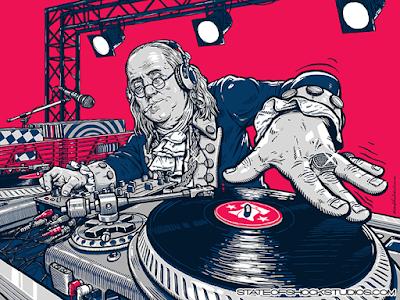 Darin Shock DJ Benny Ben Franklin Print