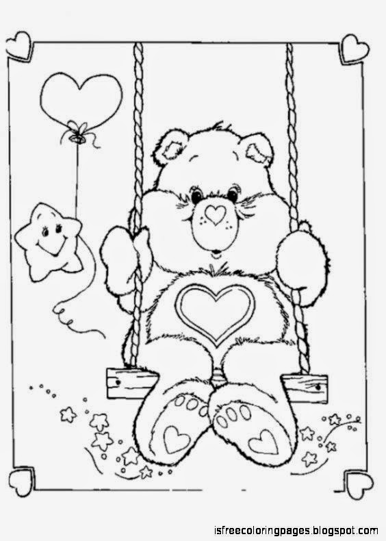 care bears coloring pages free coloring pages