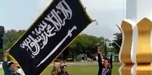 Viral Pengibaran Bendera HTI, Kemendagri : Bendera Ormas Terlarang Tak Boleh Berkibar
