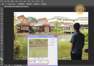Tips Membuat Foto Autofocus (Blur) ala DSLR dI Photoshop