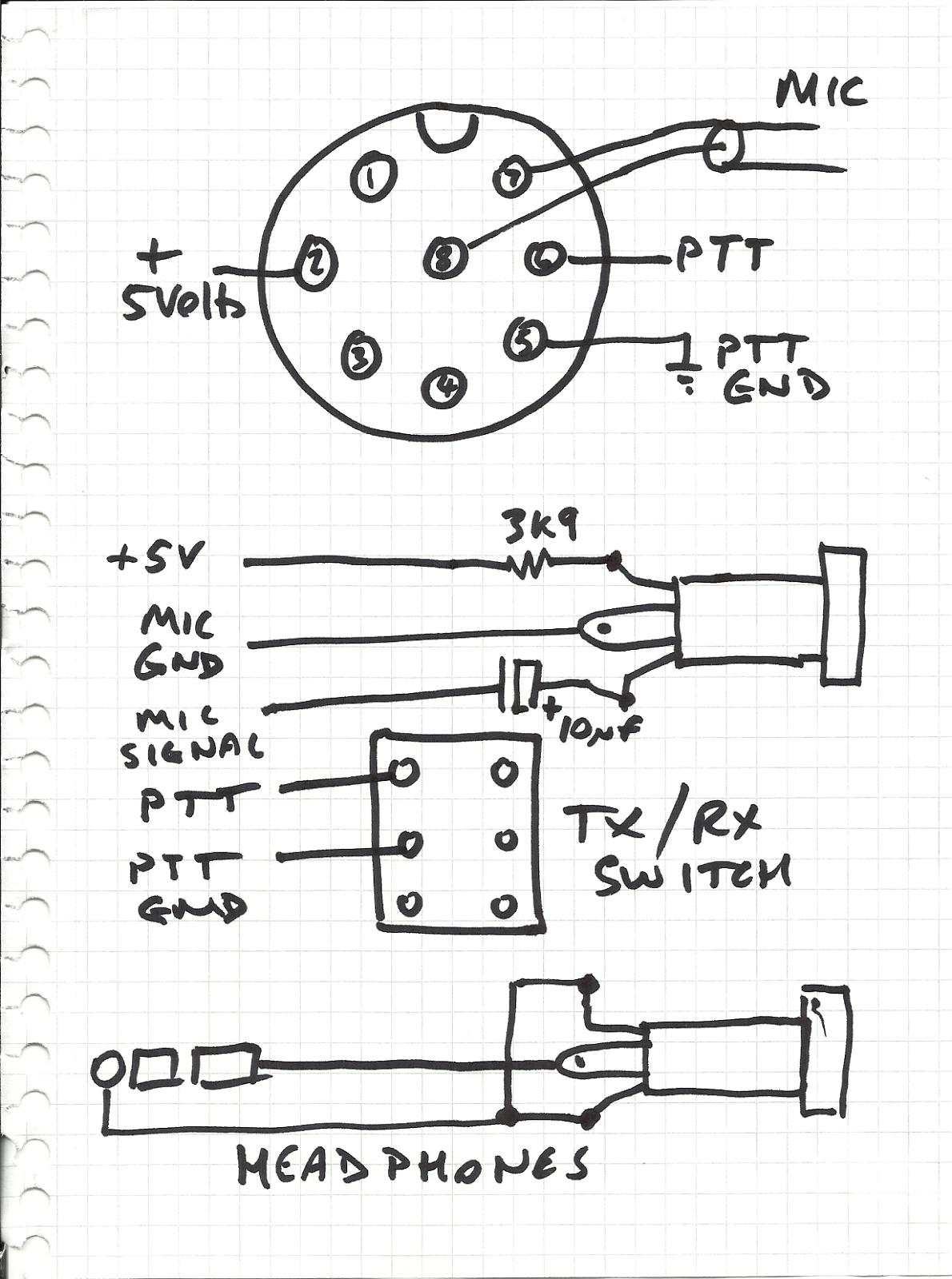 M0WYE's Blog: Headset adaptor for FT847
