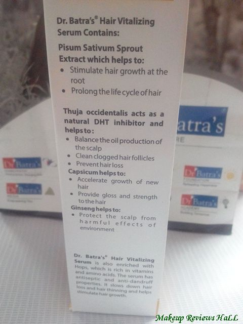 Dr. Batra Hair Serum Details