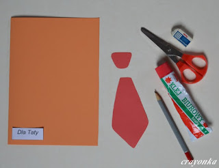 materiały potrzebne do wykonania katki na Dzień Ojca