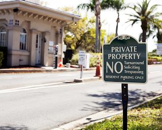 placa de propriedade privada