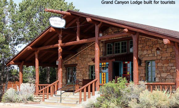 Grand Canyon Lodge  built for  tourists